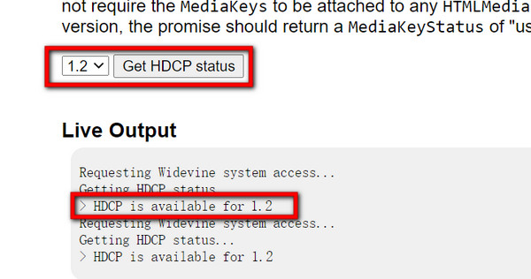 hdcp support